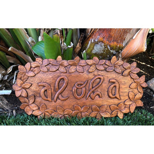 Aloha Sign with Plumeria Flowers | Hawaiian Home