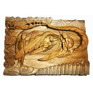 Surfing Scene | Carved Wall Plaque
