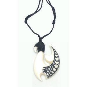 Bone Fish Hook with Engravings - Makana Hut