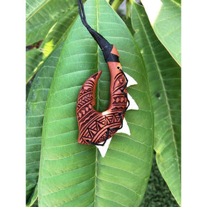 Hawaiian Fish Hook Necklace with Engravings