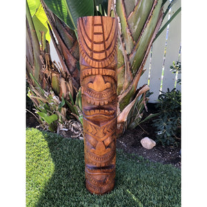 Double Faced Tiki Totem 32""