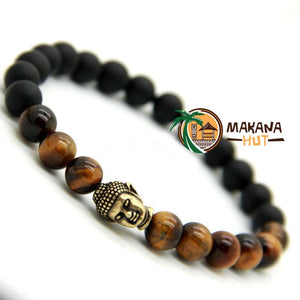 Tiger Eye Stone with Buddha | Tropical Jewerly