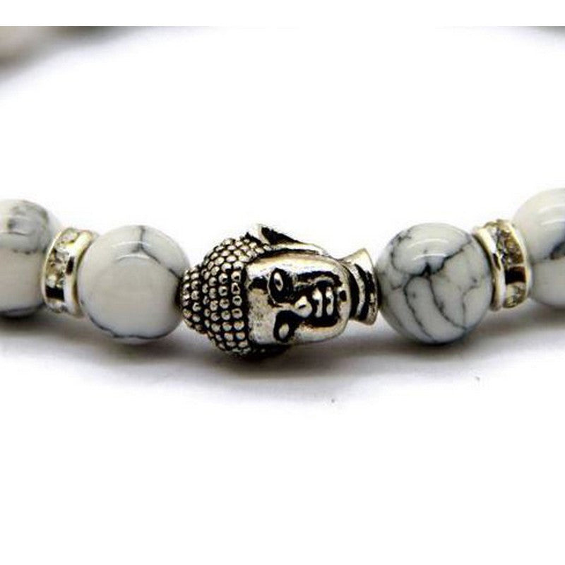 Buddha White Beaded Bracelet | Tropical Jewerly