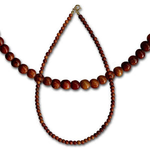 Koa Wood Necklace 18"