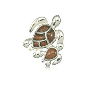 Hawaiian Honu Ohana with Koa Necklace - Makana Hut