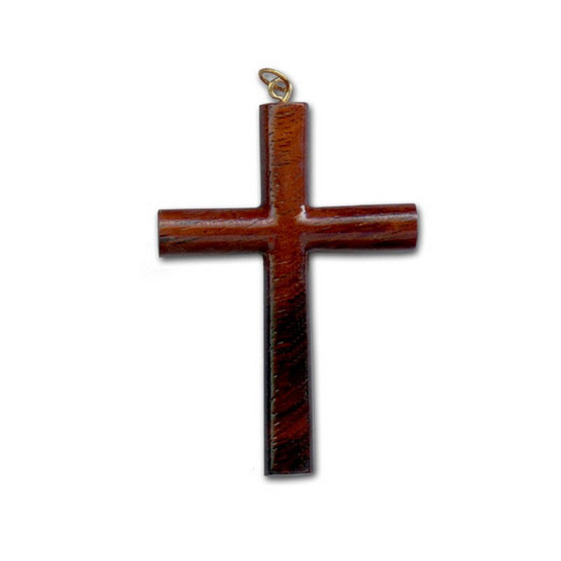 Koa Cross Pendant (2 Sizes) - Makana Hut