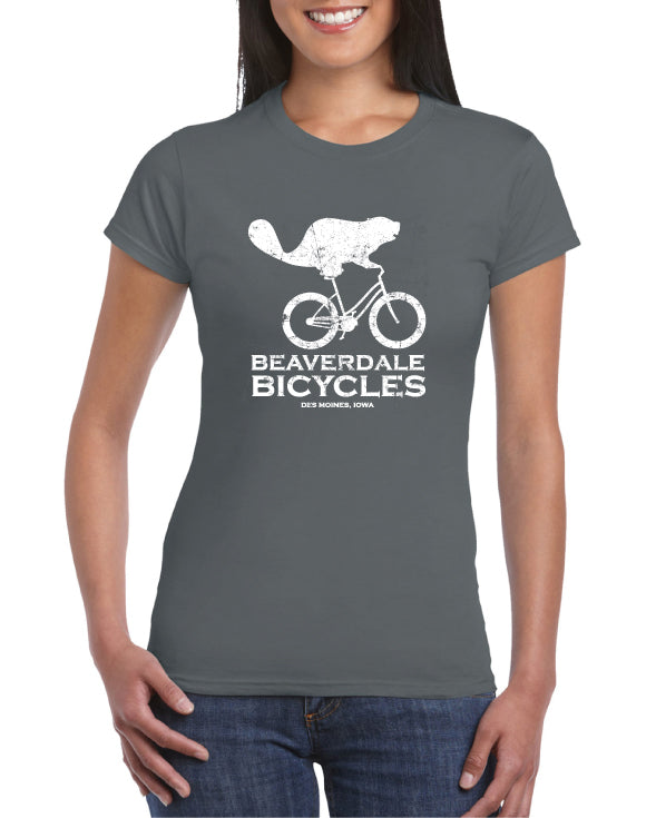 BEAVERDALE BICYCLES LOGO T-SHIRT: LADIES