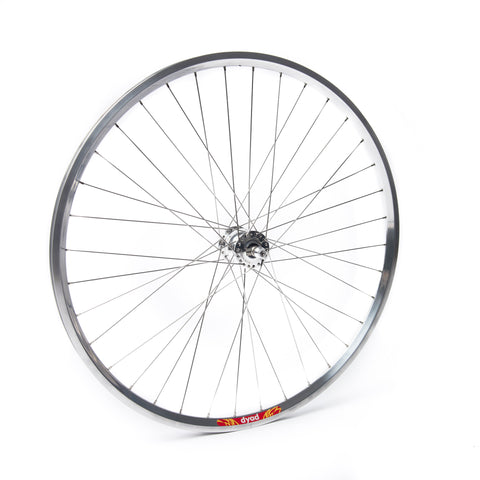 Schmidt SON28 Dyno (Disc Brake)  Polished Hub / Velocity Dyad Polished Rim / DT Swiss Champion Stainless Steel Spokes