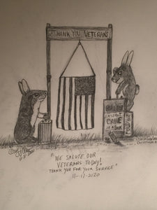 11/11/2020 Courtly Cottontails Political Cartoon  by Lisa Loucks-Christenson