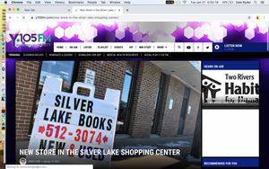 Y105fm Story on Silver Lake Books™