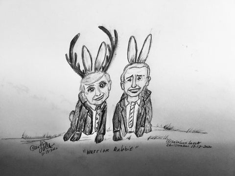 11–13-2020 Courtly Cottontails Political Cartoon by Lisa Loucks-Christenson