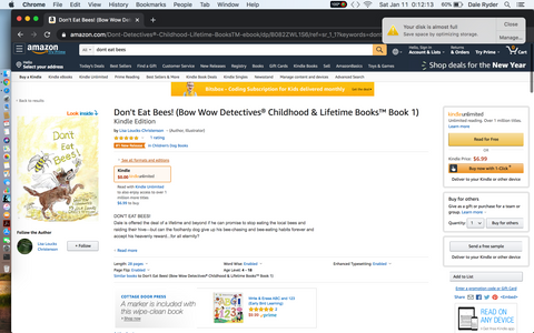 Don't Eat Bees! by Lisa Loucks-Christenson a Bow Wow Detectives® story #1 Amazon Hot New Release