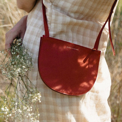 The Smile   Half Moon Crossbody Bag