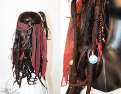 Captain Jack Sparrow Costume Wig Pirates of the Caribbean