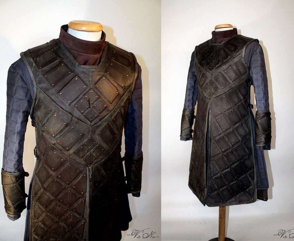 Robb Ned Stark Jon Snow Game of Thrones Leather Brigandine Costume