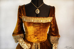 """The Tudors"" Lady Mary Tudor Renaissance Costume dress"