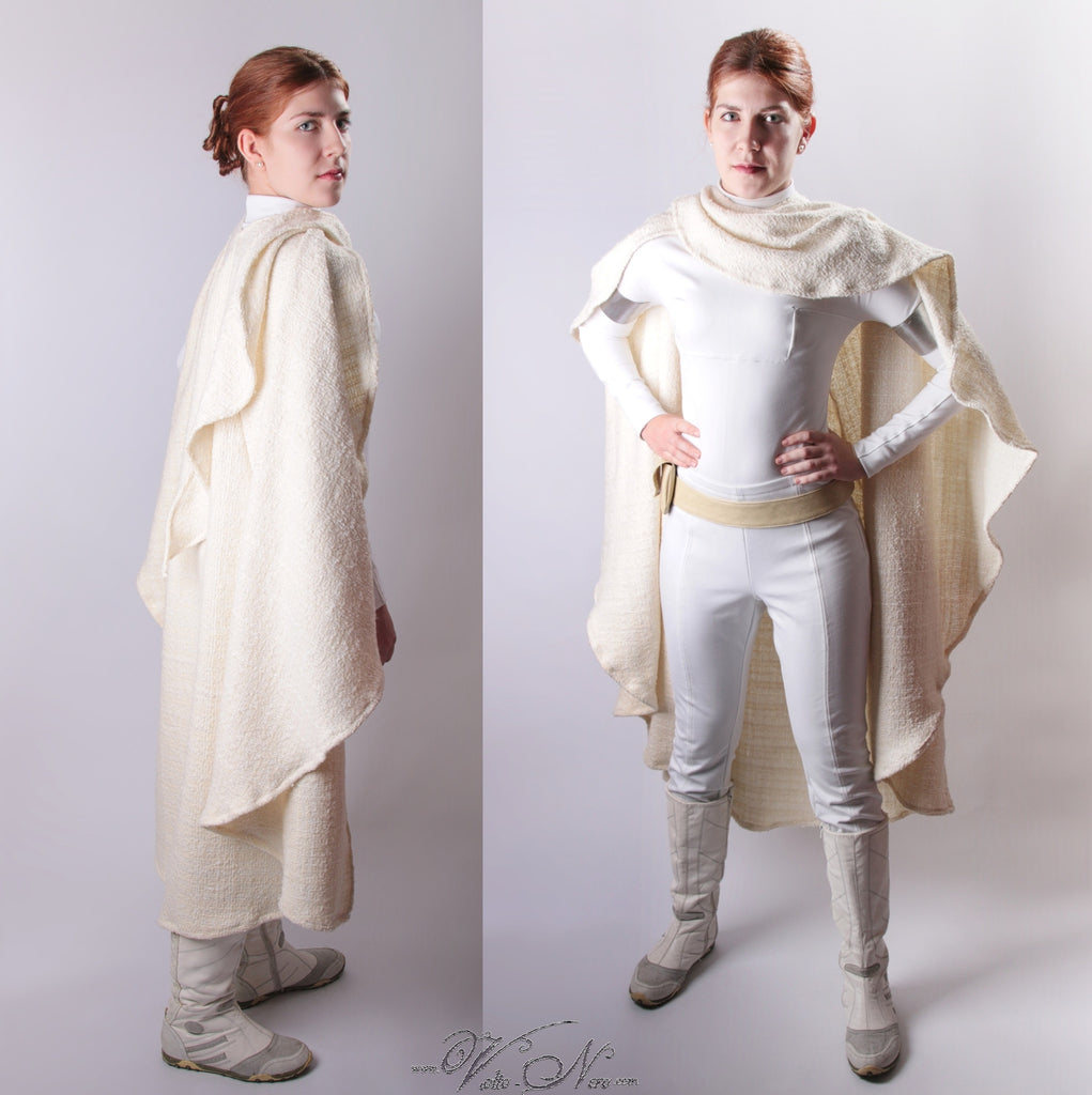 Star Wars Episode Ii Padme Cosplay Costume Snowbunny Amidala Suit And Cape Volto Nero Costumes