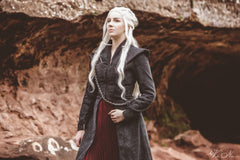 Daenerys Targaryen Season 7 Game of Thrones Dragonstone Costume Gown Dress