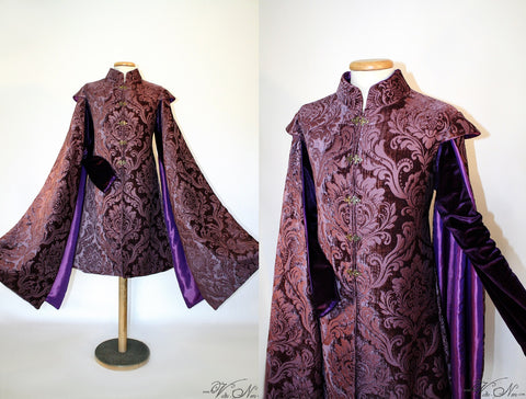 King Joffrey Baratheon Purple  Costume Robe Game of Thrones