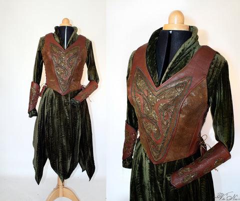 Tauriel Bodice Costume - The Hobbit Elven Dress Lord of the Rings