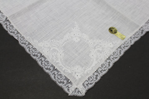 HANKIE Lace Embroidered