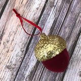 Red Acorn Tree Decoration