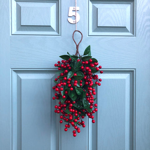 Red Berries Door Swag
