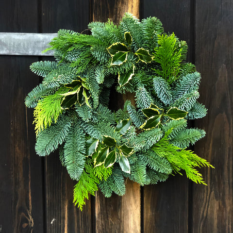 Small Nordman Fir Christmas Wreath