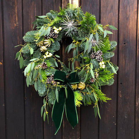 Foraged Christmas Door Wreath