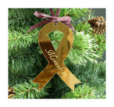 Pre-Order: Awareness Ribbon Ornament (Custom Engraving Available)