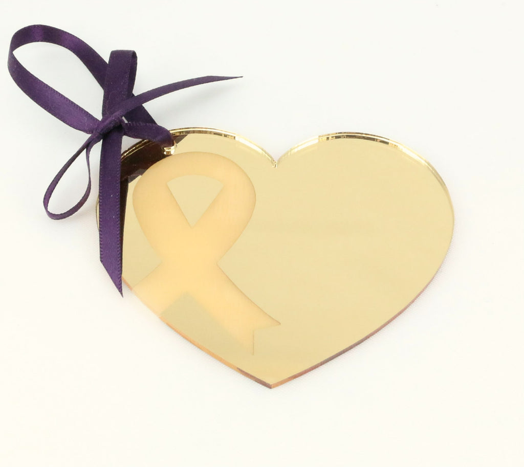 Gold Awareness Heart Ornament