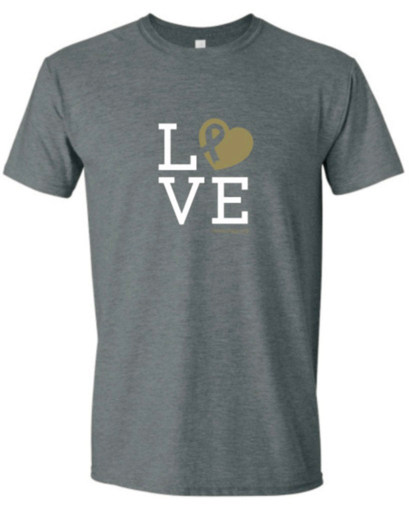 YOUTH LOVE Metallic Short Sleeved Soft T-Shirt