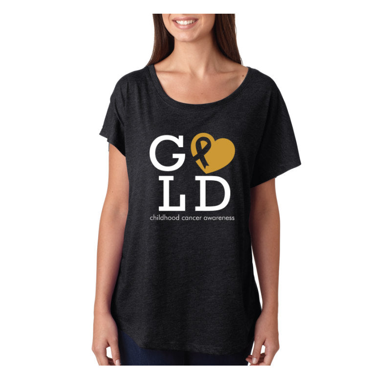 GOLD HEART T SHIRT