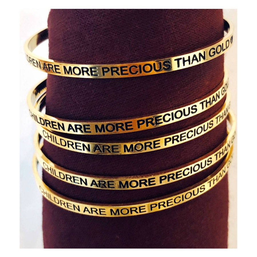 Gold Awareness Bangle
