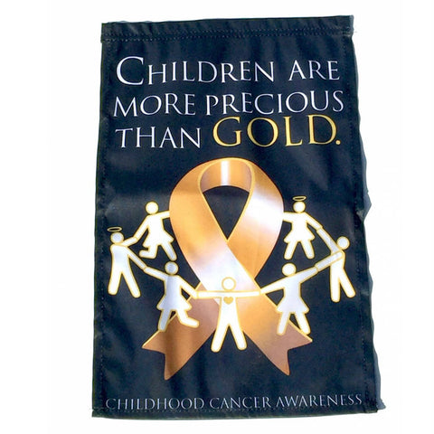 GOLD RIBBON Awareness Garden Flag