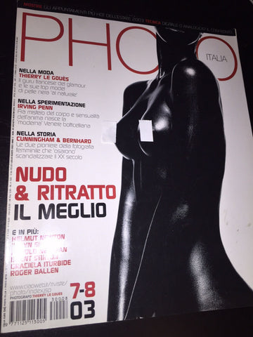 PHOTO Italia Magazine July 2003 THIERRY LE GOUES Helmut Newton IRVING PENN