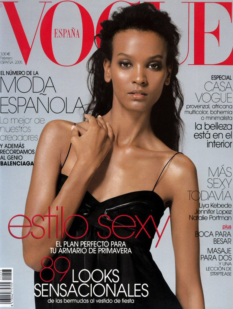 VOGUE Spain Magazine February 2005 LIYA KEBEDE Gemma Ward NATALIA VODIANOVA Rianne Ten Haken