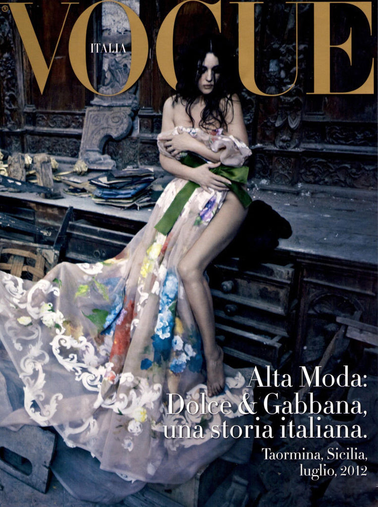 Vogue Italia magazine 2012 MONICA BELLUCCI Sicily DOLCE & GABBANA Supplement