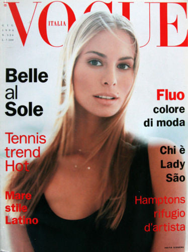 VOGUE Italia Magazine June 1994 NIKI TAYLOR Monica Bellucci AMBER VALLETTA Tatjana Patitz