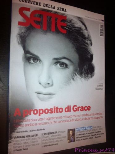 GRACE KELLY Sette Italian One Day Magazine MAY 2014 Brand New