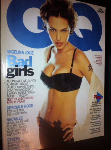 GQ Magazine 2000 ANGELINA JOLIE Sharon Stone TOM CRUISE Patty Pravo FRANK ZAPPA