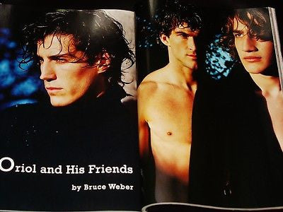 BRUCE WEBER 12 pages pictorial 'Oriol and His Friends' UOMO VOGUE Magazine