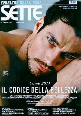 DAVID GANDY Sette Italian One Day Magazine June 2011 Rare Out of Print