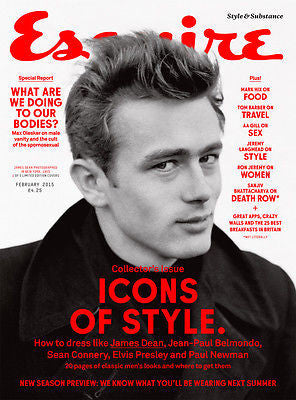 Esquire UK Magazine February 2015 JAMES DEAN Elvis Presley SEAN CONNERY Paul Newman