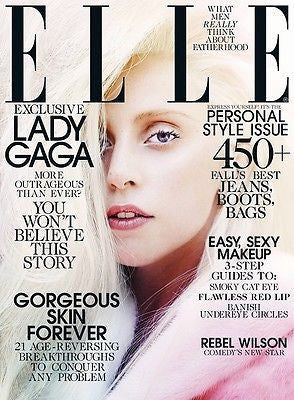 ELLE US Magazine October 2013 LADY GAGA Zen ATHENA WILSON Brand New
