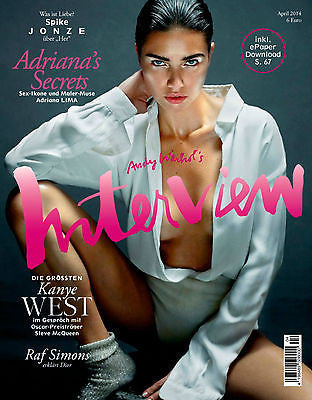 Interview Magazine Germany 2014 ADRIANA LIMA Anna Ewers LEXI BOLING Kanye West
