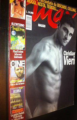 Max Magazine 2000 CHRISTIAN VIERI Bare Chest LUISA CORNA Russell Crowe