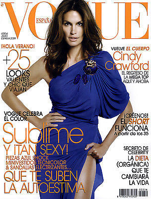 VOGUE Spain Magazine July 2009 CINDY CRAWFORD Heather Marks RAQUEL ZIMMERMANN