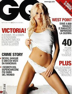 GQ Italia Magazine 2006 VICTORIA SILVSTEDT Busty Pictorial Agent provocateur lingerie Models