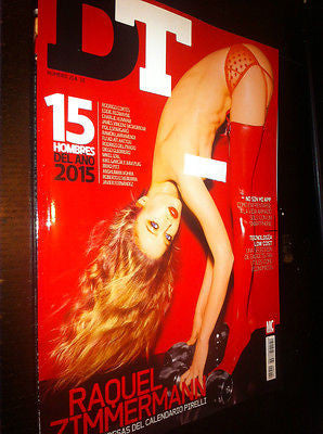 DT Magazine January 2015 RAQUEL ZIMMERMANN Natalia Vodianova BRAD PITT Chris Elson